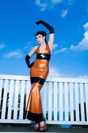 Baltic Sunset Latex Kleid