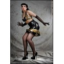 Pin-Up Leo Latex Skirt