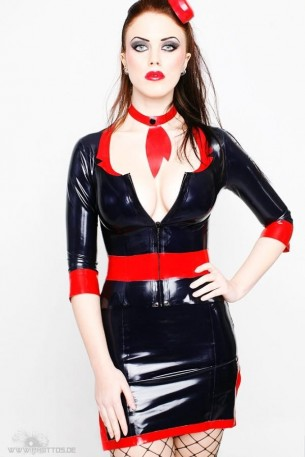 Stewardess Latex Oberteil Jacke
