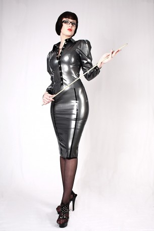 Teacher Latex Skirt