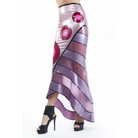 Miss Blossom Latex Skirt