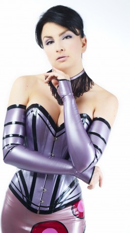 Miss Blossom Latex Gauntlets