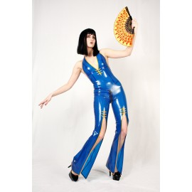 China Cat Latex Catsuit Ganzanzug