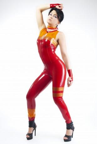 Fiery Fox Latex Ganzanzug