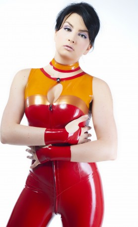 Fiery Fox Latex Mittens