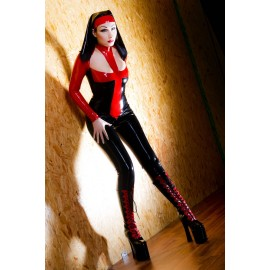 Savage Nun Cat Latex Ganzanzug Catsuit