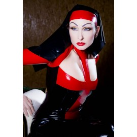 Savage Nun Latex Hood
