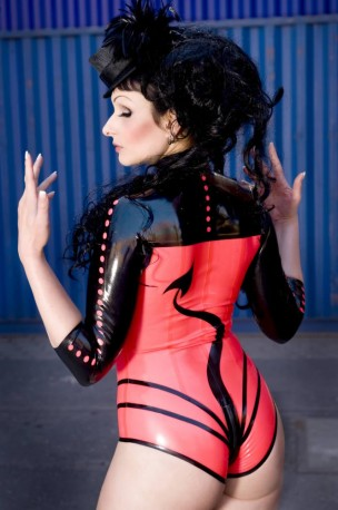 The Devils Latex Body Leotard