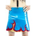 Flame Latex Men Skirt