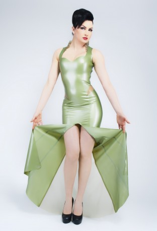 Divina Latex Gown