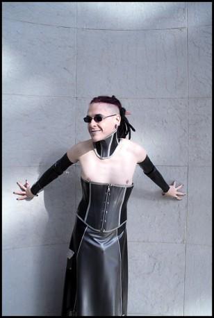 incarnadine hantu latex neck corset savage wear. Black Bedroom Furniture Sets. Home Design Ideas