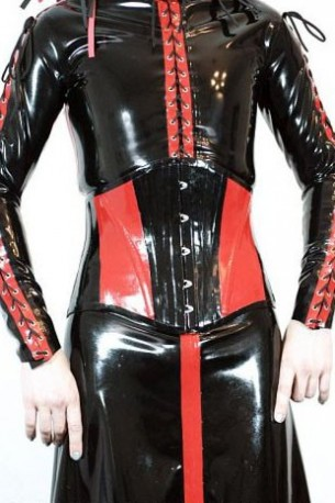 Dark Priest Latex Corset