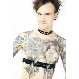 Latex Space Harness Collar