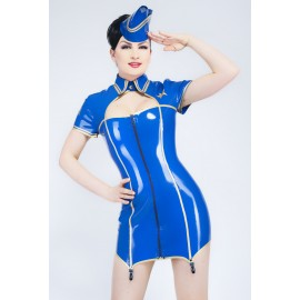 On Duty Latex Uniformkleid