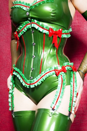 Miss Maple Latex Korsett