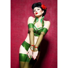Miss Maple Latex Gauntlets