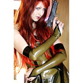 Barbarella Latex Armstulpen