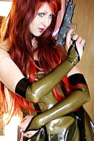 Barbarella Latex Gauntlets