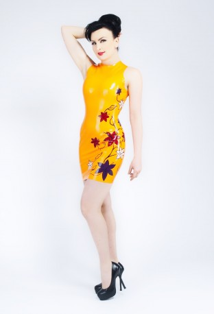 Floral Latex Dress