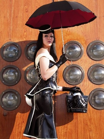 60s Latex Oberteil