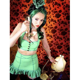 Pin-Up Dancer Latex Oberteil