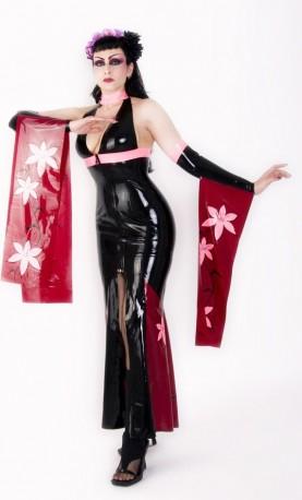 Geisha Latex Kleid