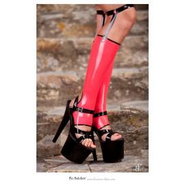 Bijou Latex Leg Gauntlets