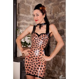 Illusion Latex Dress Leo
