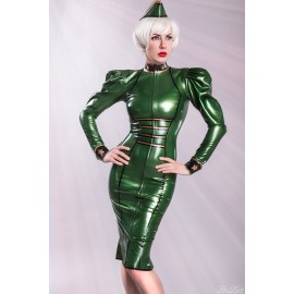 Lady Renate Latex Uniform Dress