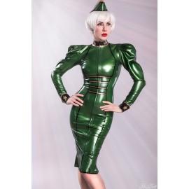 Lady Renate Latex Uniform Dress
