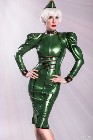 Lady Renate Latex Uniformkleid