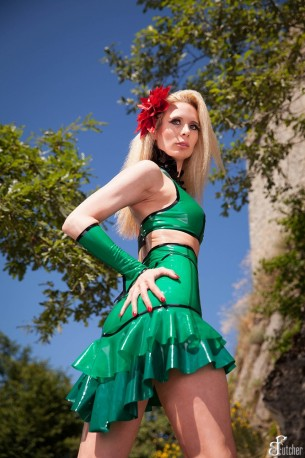 Leaves Latex Skirt