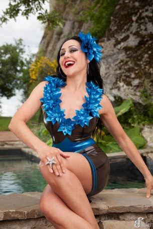 Fiore Latex Dress